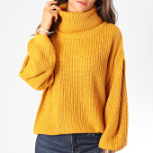 /achat-pulls/deeluxe-pull-col-roule-amplified-femme-camil-jaune-moutarde-198310.html