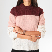 /achat-pulls/vero-moda-pull-femme-tricolore-wine-block-ecru-rose-bordeaux-198342.html