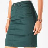 /achat-jupes/vero-moda-jupe-jean-skinny-femme-pencil-slit-vert-198351.html