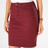 /achat-jupes/vero-moda-jupe-jean-skinny-femme-pencil-slit-bordeaux-198353.html