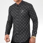 /achat-chemises-manches-longues/final-club-chemise-premium-avec-damier-et-broderie-279-noir-198492.html