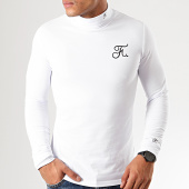 /achat-t-shirts-manches-longues/final-club-tee-shirt-col-roule-manches-longues-premium-fit-avec-broderie-302-blanc-198494.html