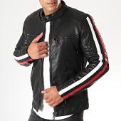 /achat-vestes-biker/mtx-veste-biker-a-bandes-929-noir-blanc-rouge-198478.html