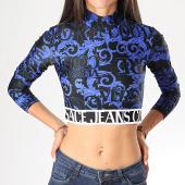 /achat-t-shirts-manches-longues/versace-jeans-couture-tee-shirt-crop-slim-femme-manches-longues-b2hub717-s0622-noir-bleu-roi-renaissance-floral-198470.html