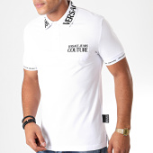 /achat-polos-manches-courtes/versace-jeans-couture-polo-manches-courtes-621-logo-b3gub721-blanc-noir-198486.html