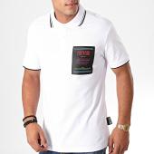 /achat-polos-manches-courtes/versace-jeans-couture-polo-manches-courtes-622-label-b3gub722-blanc-noir-198487.html