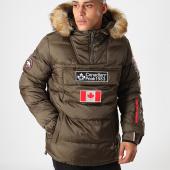 /achat-doudounes/canadian-peak-doudoune-col-zippe-fourrure-borneak-vert-kaki-198549.html