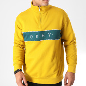 /achat-sweats-col-zippe/obey-sweat-col-zippe-deal-mock-jaune-vert-198510.html