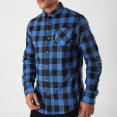 /achat-chemises-manches-longues/brave-soul-chemise-a-carreaux-manches-longues-69jackf-bleu-noir-198695.html
