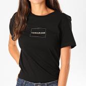 /achat-t-shirts/calvin-klein-tee-shirt-femme-institutional-box-logo-2235-noir-dore-198639.html
