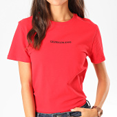 /achat-t-shirts/calvin-klein-tee-shirt-femme-institutional-logo-stretch-2258-rouge-noir-198642.html