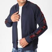 /achat-vestes/hugo-by-hugo-boss-veste-zippee-a-bandes-reverse-logo-dalkutta-50414143-bleu-marine-rouge-198775.html