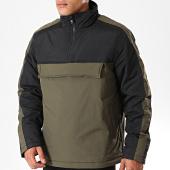 /achat-sweats-col-zippe/urban-classics-veste-outdoor-zippee-tb2483-vert-kaki-noir-198863.html