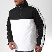 /achat-sweats-col-zippe/urban-classics-sweat-col-zippe-a-bandes-tb2483-blanc-noir-198865.html