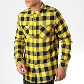 /achat-chemises-manches-longues/urban-classics-chemise-manches-longues-a-carreaux-tb297-noir-jaune-198873.html