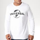 /achat-t-shirts-manches-longues/universal-tee-shirt-manches-longues-logo-mono-blanc-noir-198999.html