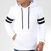 /achat-sweats-capuche/lbo-sweat-capuche-avec-bandes-875-blanc-199060.html