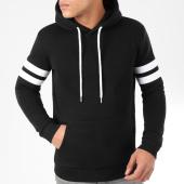 /achat-sweats-capuche/lbo-sweat-capuche-avec-bandes-876-noir-blanc-199061.html