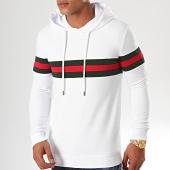 /achat-sweats-capuche/lbo-sweat-capuche-avec-bandes-852-blanc-199062.html