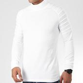 /achat-t-shirts-manches-longues/lbo-tee-shirt-col-roule-manches-longues-uni-902-blanc-199063.html