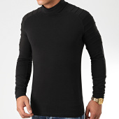 /achat-t-shirts-manches-longues/lbo-tee-shirt-col-roule-manches-longues-uni-903-noir-199064.html