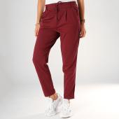 /achat-pantalons-carreaux/only-pantalon-femme-a-bandes-poptrash-bordeaux-198968.html