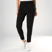/achat-pantalons-carreaux/only-pantalon-femme-a-bandes-poptrash-noir-198969.html