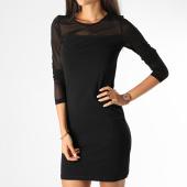 /achat-robes/vero-moda-robe-manches-longues-femme-mayam-noir-198996.html