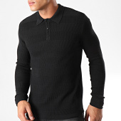 /achat-polos-manches-courtes/ikao-polo-manches-longues-f608-noir-199128.html