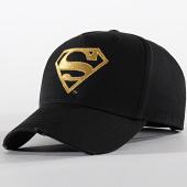 /achat-casquettes-de-baseball/superman-casquette-logo-noir-or-199244.html