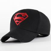/achat-casquettes-de-baseball/superman-casquette-logo-noir-rouge-199247.html