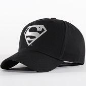 /achat-casquettes-de-baseball/superman-casquette-logo-noir-argente-199249.html