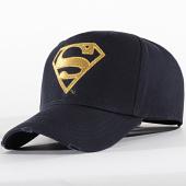 /achat-casquettes-de-baseball/superman-casquette-logo-bleu-marine-dore-199255.html