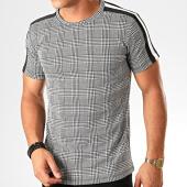 /achat-t-shirts/frilivin-tee-shirt-a-carreaux-et-bandes-5350-noir-blanc-199252.html