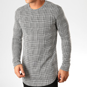/achat-t-shirts-manches-longues/frilivin-tee-shirt-manches-longues-oversize-a-carreaux-5353-noir-blanc-199259.html