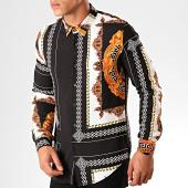 /achat-chemises-manches-longues/frilivin-chemise-manches-longues-renaissance-682820-noir-blanc-orange-199340.html