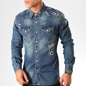 /achat-chemises-manches-longues/frilivin-chemise-manches-longues-jean-ca-620k-bleu-denim-199343.html