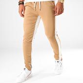 /achat-pantalons-joggings/frilivin-pantalon-jogging-a-bandes-1565-marron-blanc-199357.html