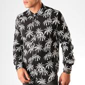 /achat-chemises-manches-longues/frilivin-chemise-manches-longues-floral-bm1152b-noir-blanc-199363.html