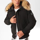 /achat-vestes/comme-des-loups-veste-zippee-capuche-fourrure-texas-noir-beige-199537.html
