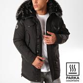/achat-parkas/comme-des-loups-parka-chauffante-fourrure-copenhagen-noir-gris-anthracite-199542.html
