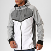 /achat-sweats-zippes-capuche/geographical-norway-sweat-zippe-capuche-galon-blanc-gris-chine-199386.html