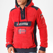 /achat-sweats-zippes-capuche/geographical-norway-sweat-col-zippe-capuche-fourrure-gymclass-sherco-rouge-199410.html