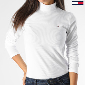 /achat-pulls-col-roule/tommy-hilfiger-jeans-pull-femme-rib-mock-neck-7135-blanc-199549.html
