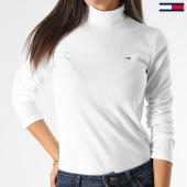 /achat-pulls/tommy-hilfiger-jeans-pull-femme-rib-mock-neck-7135-blanc-199549.html