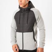 /achat-vestes/zayne-paris-veste-zippee-capuche-tx-255-gris-clair-chine-noir-199451.html