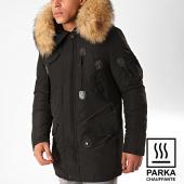 /achat-parkas/comme-des-loups-parka-chauffante-fourrure-copenhagen-noir-beige-199567.html
