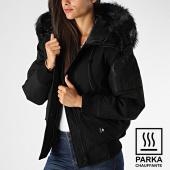 /achat-parkas/comme-des-loups-parka-chauffante-femme-fourrure-madrid-noir-199574.html