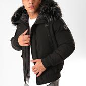 /achat-vestes/comme-des-loups-veste-zippee-capuche-fourrure-texas-noir-gris-anthracite-199594.html