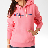 /achat-sweats-capuche/champion-sweat-capuche-femme-big-script-111555-rose-199709.html